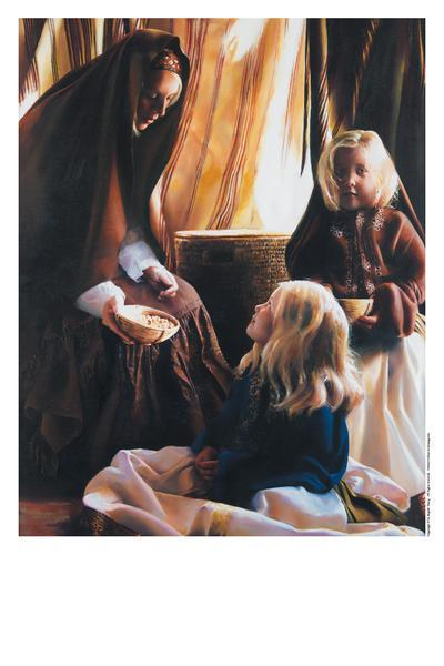 The Daughters Of Zelophehad - 11 x 14 print by Elspeth Young