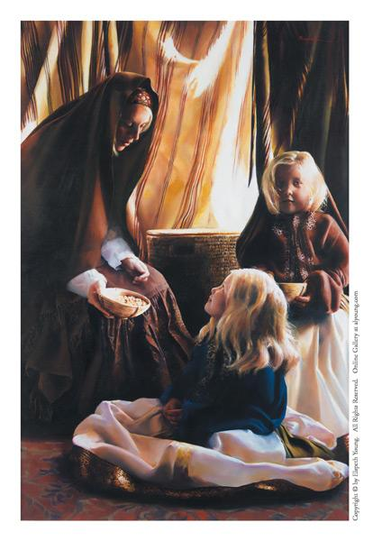 The Daughters Of Zelophehad - 4 x 6 print by Elspeth Young