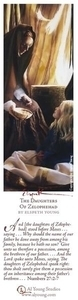 The Daughters Of Zelophehad - Bookmark by Elspeth Young