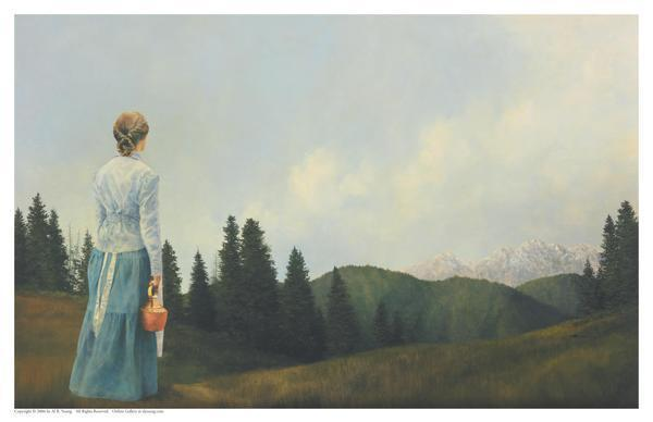 Mountain Home - 11 x 17 print by Al Young