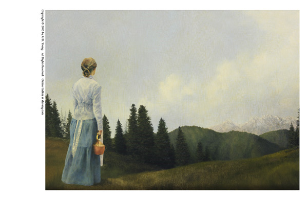 Mountain Home - 5 x 7 print by Al Young