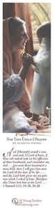 For This Child I Prayed - Bookmark by Elspeth Young