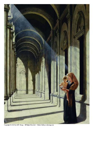 The Windows Of Heaven - 5 x 7 print by Al Young