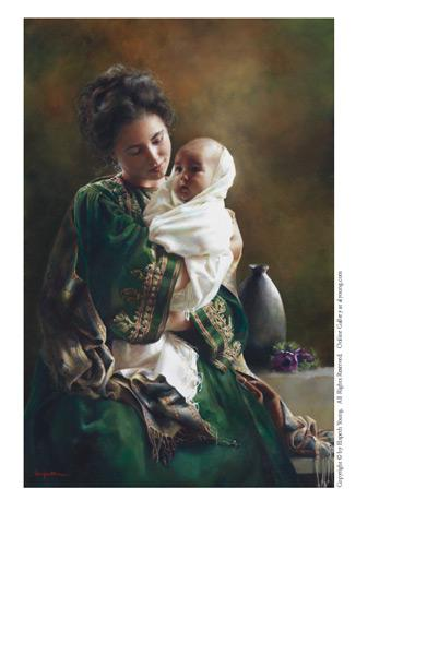 Bearing A Child In Her Arms - 4 x 6 print by Elspeth Young