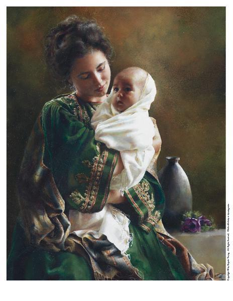Bearing A Child In Her Arms - 8 x 10 print by Elspeth Young