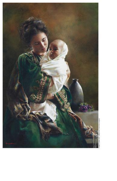 Bearing A Child In Her Arms - 9 x 13.75 print by Elspeth Young