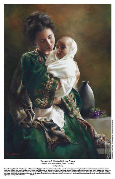 Bearing A Child In Her Arms - 11 x 17 print by Elspeth Young