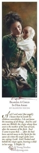 Bearing A Child In Her Arms - Bookmark by Elspeth Young