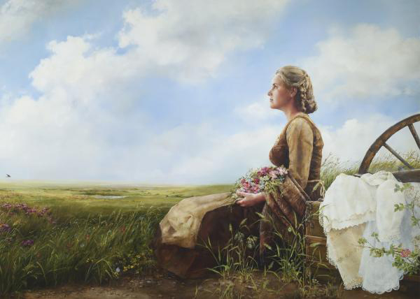 If God So Clothe The Field - 5 x 7 print by Elspeth Young
