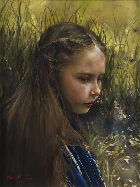 By The River's Brink - 6 x 8 giclée on canvas (pre-mounted) by Elspeth Young
