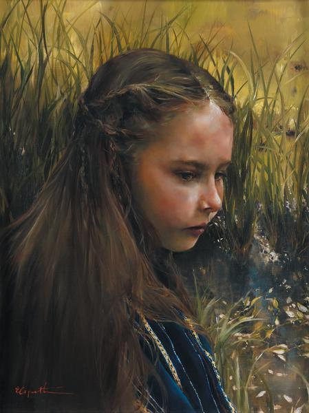 By The River's Brink - 18 x 24 print by Elspeth Young