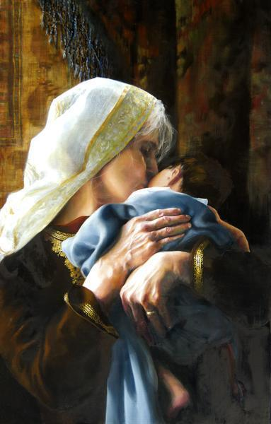 Is Anything Too Hard For The Lord - 6 x 9.5 giclée on canvas (pre-mounted) by Elspeth Young