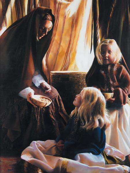 The Daughters Of Zelophehad - 30 x 40 print by Elspeth Young
