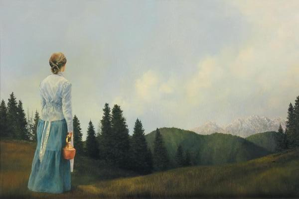 Mountain Home - 20 x 30 print by Al Young