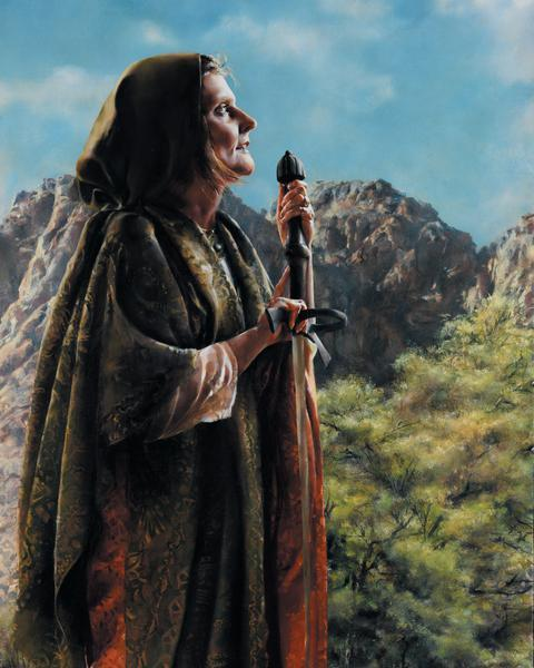 I Arose A Mother In Israel - 24 x 30 print by Elspeth Young
