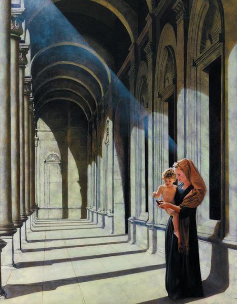 The Windows Of Heaven - 14 x 18 print by Al Young