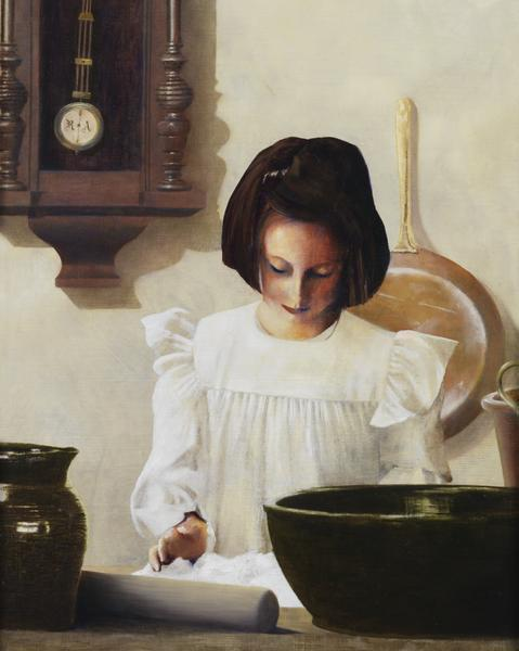 Sara Crewe - 8 x 10 giclée on canvas (pre-mounted) by Al Young
