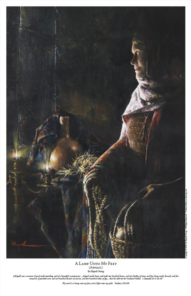 A Lamp Unto My Feet - 11 x 17 print by Elspeth Young