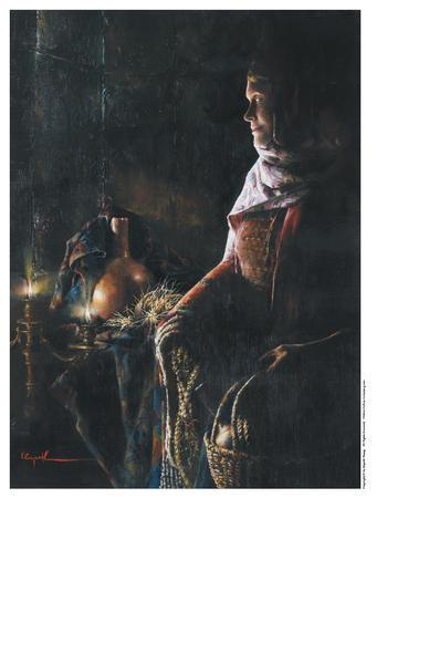 A Lamp Unto My Feet - 9 x 12.25 print by Elspeth Young