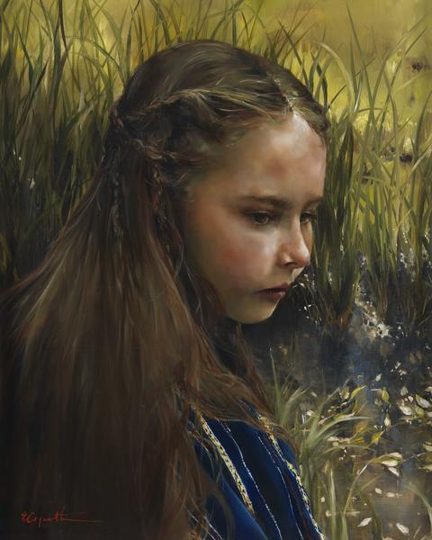 By The River's Brink - 8 x 10 giclée on canvas (pre-mounted) by Elspeth Young