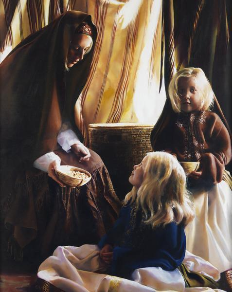 The Daughters Of Zelophehad - 8 x 10 giclée on canvas (pre-mounted) by Elspeth Young