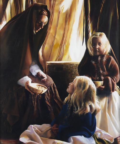 The Daughters Of Zelophehad - 20 x 24 giclée on canvas (unmounted) by Elspeth Young