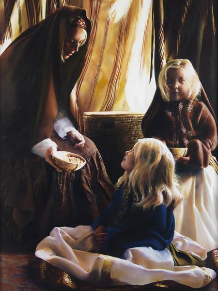The Daughters Of Zelophehad - 30 x 40 giclée on canvas (unmounted) by Elspeth Young