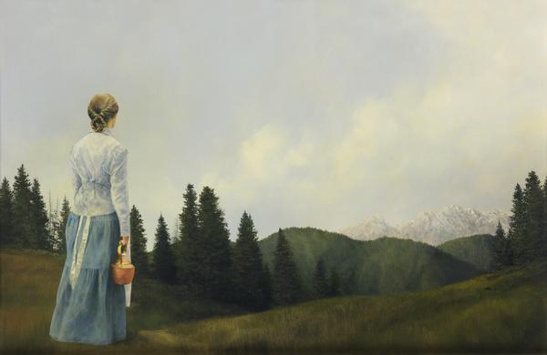 Mountain Home - 7.75 x 12 giclée on canvas (pre-mounted) by Al Young