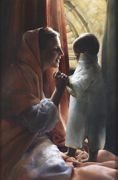 For This Child I Prayed - 7.25 x 11 giclée on canvas (pre-mounted) by Elspeth Young