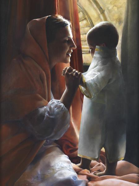 For This Child I Prayed - 12 x 16 giclée on canvas (pre-mounted) by Elspeth Young