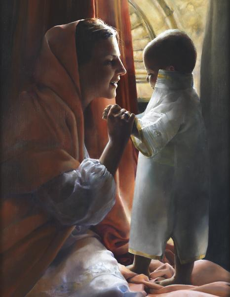 For This Child I Prayed - 14 x 18 giclée on canvas (pre-mounted) by Elspeth Young