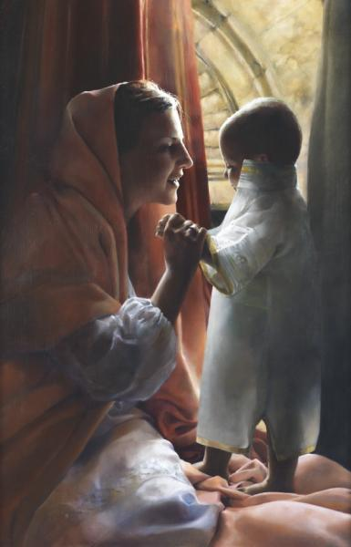 For This Child I Prayed - 18 x 28 print by Elspeth Young