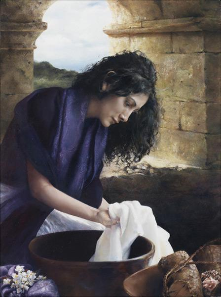She Worketh Willingly With Her Hands - 11 x 14 giclée on canvas (pre-mounted) by Elspeth Young
