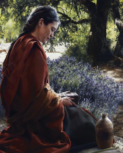 She Is Come Aforehand - 8 x 10 giclée on canvas (pre-mounted) by Elspeth Young