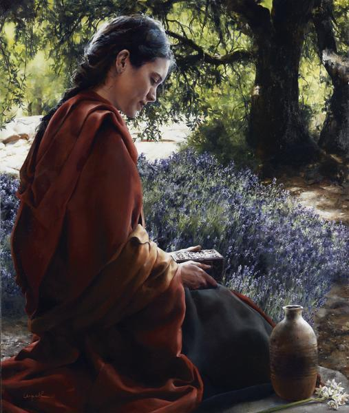 She Is Come Aforehand - 16 x 19 giclée on canvas (pre-mounted) by Elspeth Young