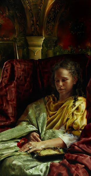 Upon Awakening - 12 x 23 giclée on canvas (pre-mounted) by Elspeth Young
