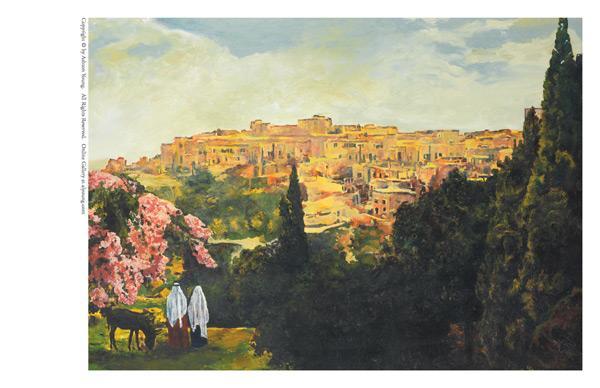 Unto The City Of David - 5 x 7 print by Ashton Young