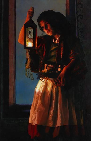 A Damsel Came To Hearken - 11 x 17 giclée on canvas (pre-mounted) by Ashton Young
