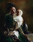 Bearing A Child In Her Arms - 14 x 18 giclée on canvas (pre-mounted)