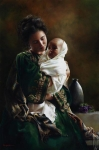 Bearing A Child In Her Arms - 16 x 24.25 giclée on canvas (unmounted)