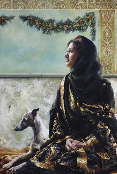 Blessed Are The Meek - 6 x 9 giclée on canvas (pre-mounted) by Elspeth Young