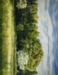 Green And Pleasant Land - 14 x 18 giclée on canvas (pre-mounted)