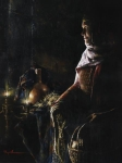 A Lamp Unto My Feet - 12 x 16 giclée on canvas (pre-mounted)