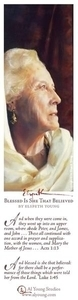 Blessed Is She That Believed - Bookmark by Elspeth Young