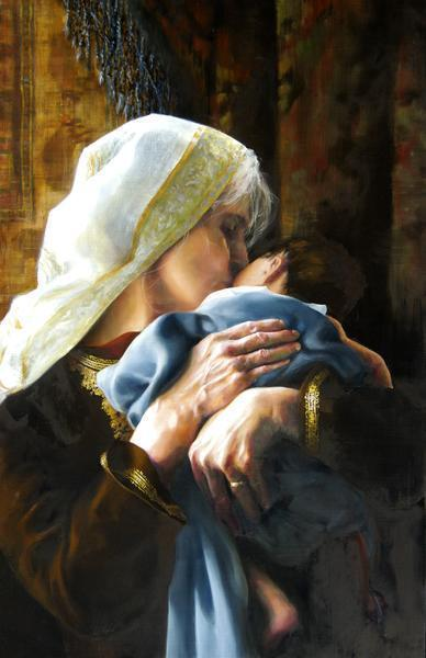 Is Anything Too Hard For The Lord - 11 x 17 giclée on canvas (pre-mounted) by Elspeth Young