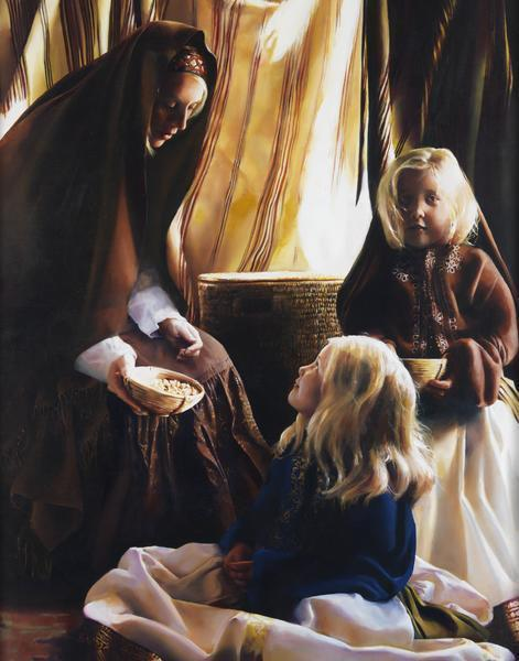 The Daughters Of Zelophehad - 11 x 14 giclée on canvas (pre-mounted) by Elspeth Young