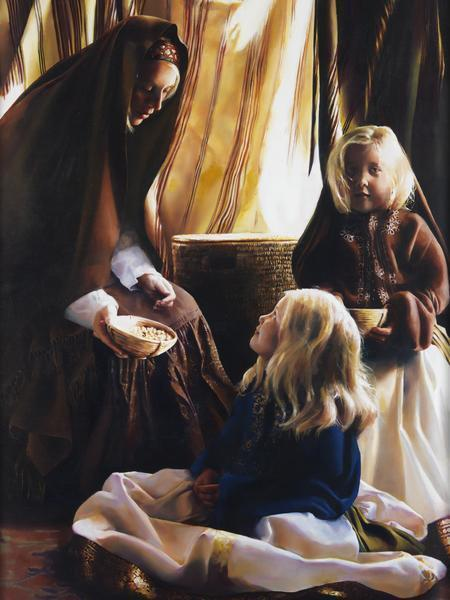 The Daughters Of Zelophehad - 18 x 24 giclée on canvas (pre-mounted) by Elspeth Young