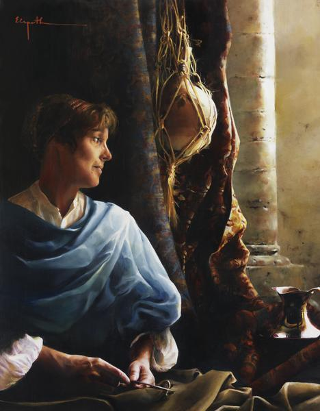 Forsaking All - 14 x 18 giclée on canvas (pre-mounted) by Elspeth Young