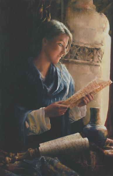 Treasure The Word - 18 x 28 giclée on canvas (unmounted) by Elspeth Young