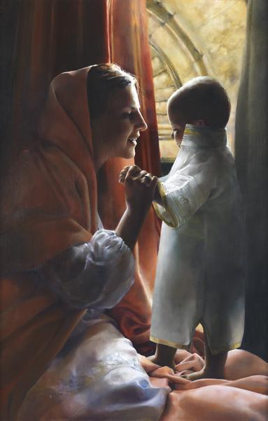 For This Child I Prayed - 20 x 31.25 giclée on canvas (unmounted) by Elspeth Young